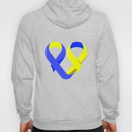 Ribbon Heart graphic Down Syndrome Awareness For Moms Hoody