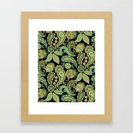 Green Paisley Framed Art Print