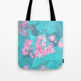 Forget Me Knot - Pink Heart little flowers Tote Bag