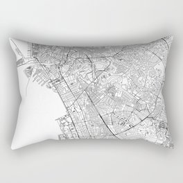 Manila White Map Rectangular Pillow