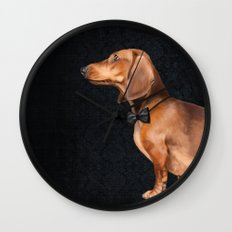 Elegant dachshund. Wall Clock