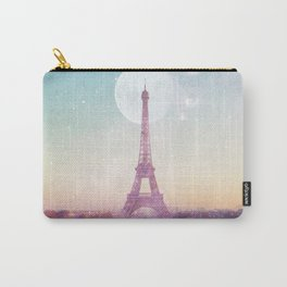 I LOVE PINK PARIS EIFFEL TOWER - Full Moon Universe Carry-All Pouch
