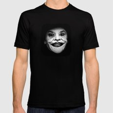 Jack Nicholson as The Joker - Pencil Sketch Style Mens Fitted Tee X-LARGE Black