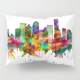 Louisville Kentucky Skyline Pillow Sham