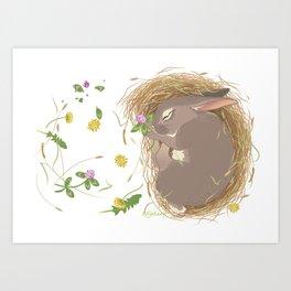 Night-night Bunny Art Print
