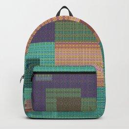 Weaving Loom Geometric Print 1 Backpack