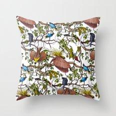 Garden pattern Throw Pillow