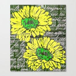 Big Yellow Daisy Canvas Print