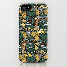 Tiki Tropics - Mustard and Green iPhone Case