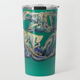 Faux Real - Teal - This is Not Typography Travel Mug