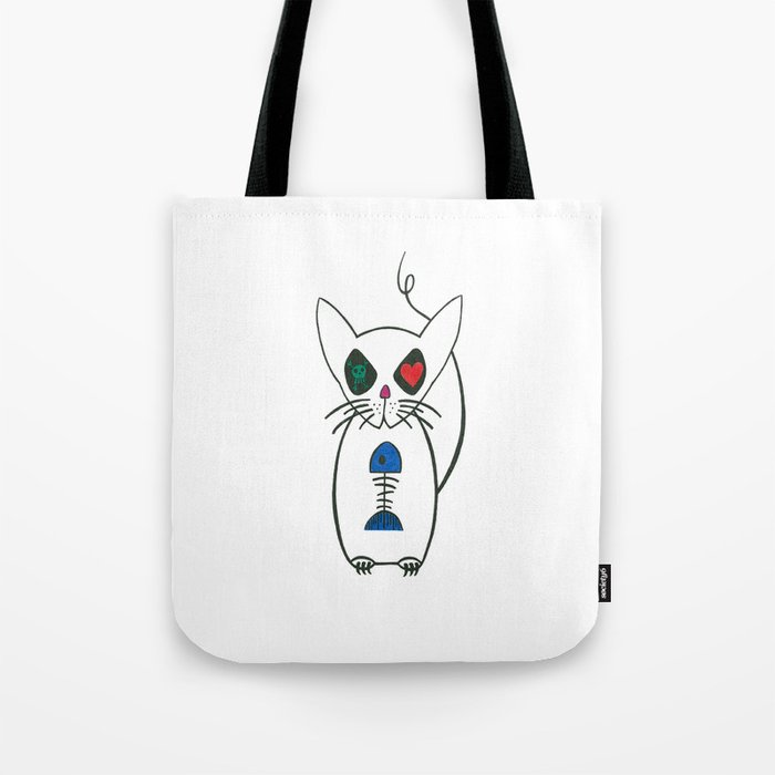 crazy kitty Tote Bag