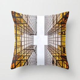 Emerging Skyscraper Throw Pillow