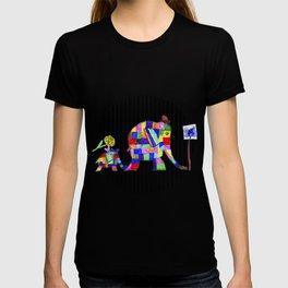 Elephant Festival |Family Walk | #society6 T-shirt