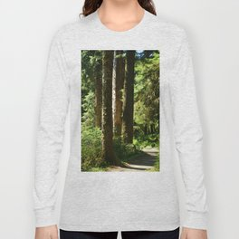 Walkway in Hoh Rainforest Long Sleeve T-shirt