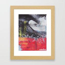 Sea Billows Roll 022715 Framed Art Print