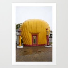Shell Station Art Print