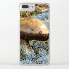 mushroom in swedish forest Clear iPhone Case