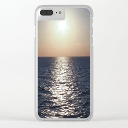 Sunset, Santorini Clear iPhone Case