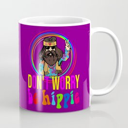 Don't worry be hippie funny quote Coffee Mug