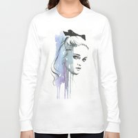 sky ferreira Long Sleeve T-shirts featuring Sky Ferreira by Cora-Tiana