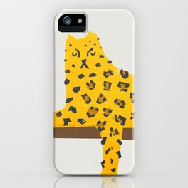 Leopard Lazy iPhone Case