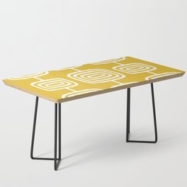 Mid Century Modern Atomic Rings Pattern 771 Mustard Yellow Coffee Table