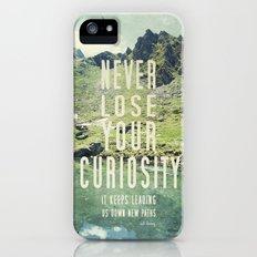 Never Lose Curiosity Slim Case iPhone (5, 5s)
