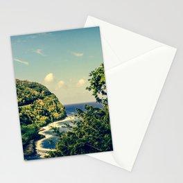Honomanu Highway to Heaven Road to Hana Maui Hawaii Stationery Cards