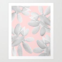 White Blush Cacti Vibes #2 #plant #decor #art #society6 Art Print