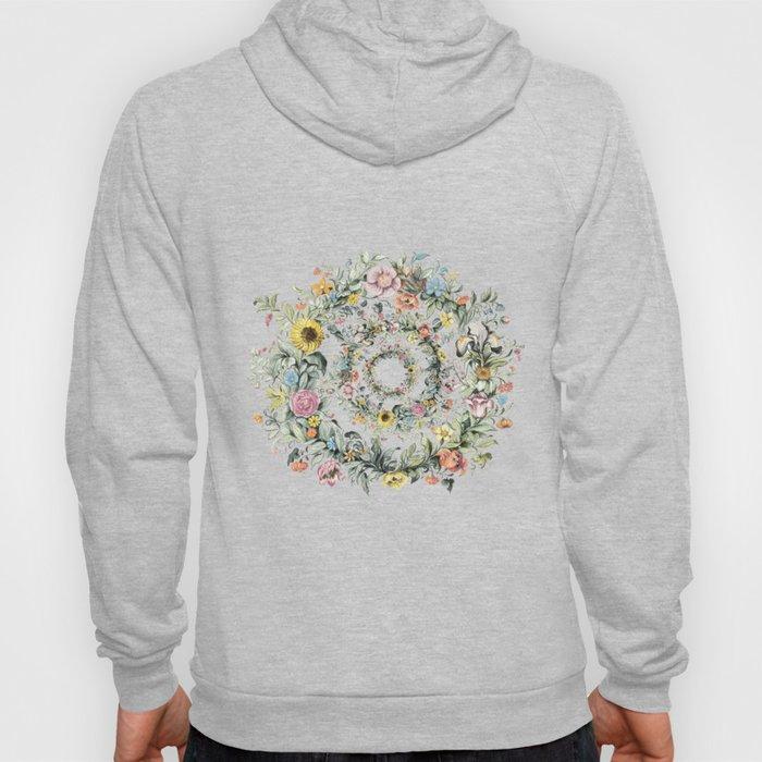 Circle of life- floral Hoody
