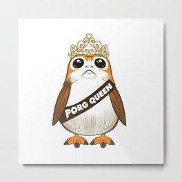 Porg Queen Metal Print