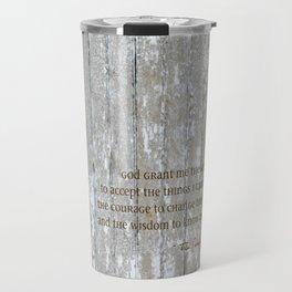 SERENITY PRAYER: BROWN BARN Travel Mug