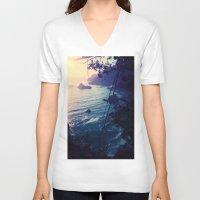 big sur V-neck T-shirts featuring Big Sur by Richard PJ Lambert