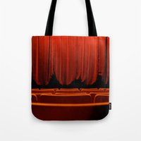 theatre Tote Bags featuring Classic Theatre by creations by Cinnamon