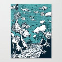 Under Water Wonderland Canvas Print