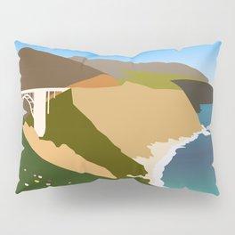 Big Sur Illustration Pillow Sham