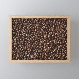 Coffee bean Background Framed Mini Art Print