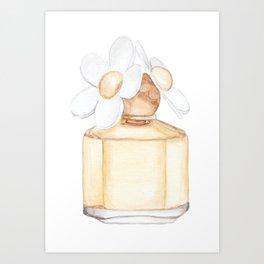 Daisy Perfume Art Print