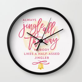 Half-Assed Jingles Wall Clock