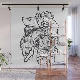 Wolf Pack Wall Mural