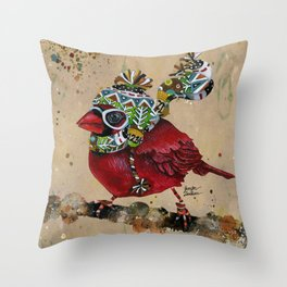 Cardinal Blaze 2 Throw Pillow