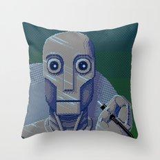 Pixelbot Throw Pillow