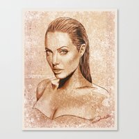 angelina jolie Canvas Prints featuring Angelina Jolie by Renato Cunha