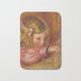 """Auguste Renoir """"Claude Renoir jouant aux constructions"""" Bath Mat"""