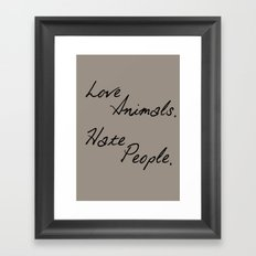 Love Animals Framed Art Print