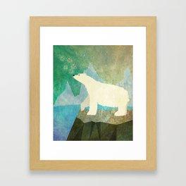 Playful Arctic Polar Bear Framed Art Print