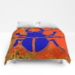 Blue Staghorn Beetle Comforters