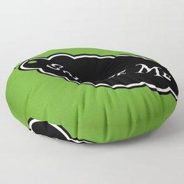 """Squeeze Me"" Alice in Wonderland styled Bottle Tag Design in 'Garden Green' Floor Pillow"