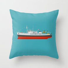 Captain Jacques' Boat Throw Pillow