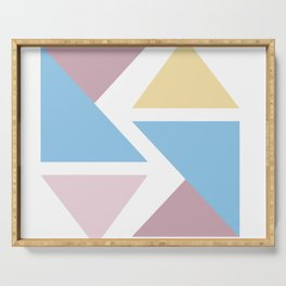 Geometric triangle pastel origami Serving Tray